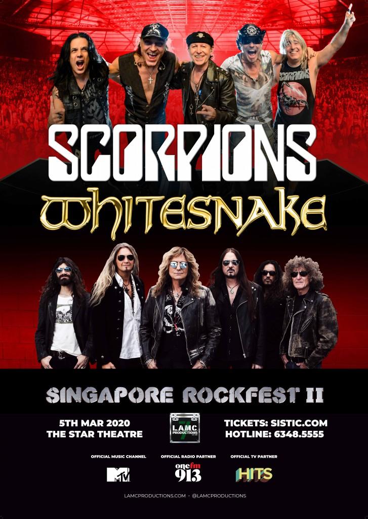 Scorpions + Whitesnake A2 webiste